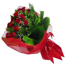 Tekirdağ yurtiçi ve yurtdışı çiçek siparişi  12 adet kirmizi essiz gül buketi - SEVENE ÖZEL