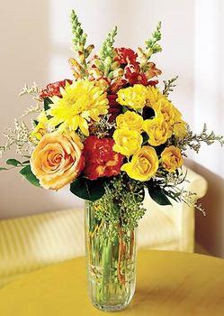 Tekirdağ hediye sevgilime hediye çiçek  mika yada cam içerisinde karisik mevsim çiçekleri