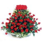 Tekirdağ yurtiçi ve yurtdışı çiçek siparişi  41 adet kirmizi gülden sepet tanzimi