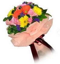 Tekirdağ internetten çiçek satışı  Karisik mevsim çiçeklerinden demet