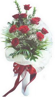 Tekirdağ çiçek siparişi sitesi  10 adet kirmizi gülden buket tanzimi özel anlara