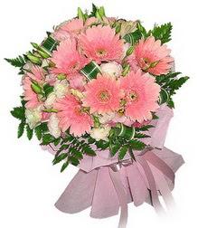 Tekirdağ 14 şubat sevgililer günü çiçek  Karisik mevsim çiçeklerinden demet