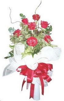 Tekirdağ çiçekçiler  7 adet kirmizi gül buketi