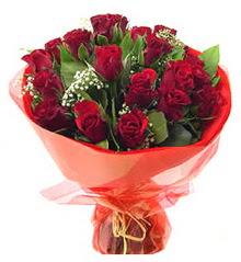 Tekirdağ çiçek online çiçek siparişi  11 adet kimizi gülün ihtisami buket modeli