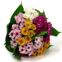 Tekirdağ çiçek , çiçekçi , çiçekçilik  Karisik kir çiçekleri demeti herkeze