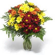 Tekirdağ çiçekçiler  Karisik çiçeklerden mevsim vazosu