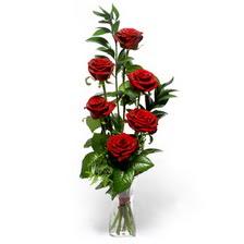 Tekirdağ anneler günü çiçek yolla  mika yada cam vazoda 6 adet essiz gül