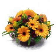 gerbera ve kir çiçek masa aranjmani  Tekirdağ cicek , cicekci