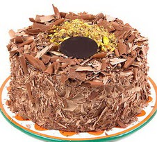 çikolatali 4 ile 6 kisilik yas pasta  Tekirdağ kaliteli taze ve ucuz çiçekler