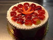 Meyvali yas pasta 4 ile 6 kisilik pasta  Tekirdağ çiçekçiler