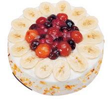 Meyvali 4 ile 6 kisilik yas pasta leziz  Tekirdağ çiçekçi mağazası