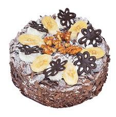 Muzlu çikolatali yas pasta 4 ile 6 kisilik   Tekirdağ anneler günü çiçek yolla