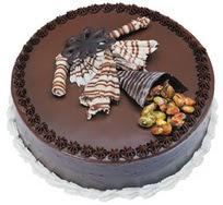 Çikolatali yas pasta 4 ile 6 kisilik  leziz  Tekirdağ güvenli kaliteli hızlı çiçek