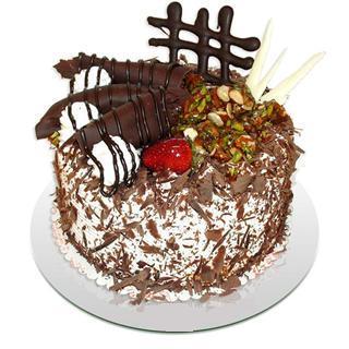 4 ile 6 kisilik çikolatali yas pasta  Tekirdağ yurtiçi ve yurtdışı çiçek siparişi
