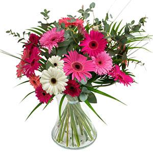 15 adet gerbera ve vazo çiçek tanzimi  Tekirdağ cicekciler , cicek siparisi