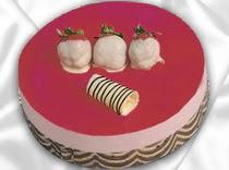 pasta siparisi 4 ile 6 kisilik yas pasta çilekli yaspasta  Tekirdağ kaliteli taze ve ucuz çiçekler