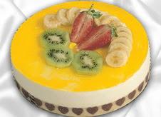 pasta gönderme 4 ile 6 kisilik yas pasta muzlu yaspasta  Tekirdağ güvenli kaliteli hızlı çiçek