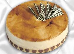 taze pasta 4 ile 6 kisilik yas pasta karamelli yaspasta  Tekirdağ çiçek siparişi vermek