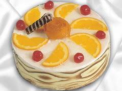 lezzetli pasta satisi 4 ile 6 kisilik yas pasta portakalli pasta  Tekirdağ internetten çiçek satışı