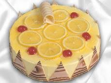 taze pastaci 4 ile 6 kisilik yas pasta limonlu yaspasta  Tekirdağ cicekciler , cicek siparisi