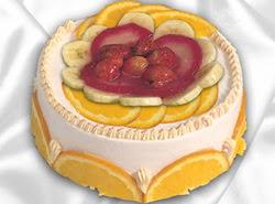 leziz pastane 4 ile 6 kisilik yas pasta meyvali yaspasta  Tekirdağ yurtiçi ve yurtdışı çiçek siparişi