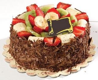 pastaci firmasindan 4 ile 6 kisilik çikolata meyvali yaspasta  Tekirdağ çiçekçiler