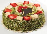 pasta gönder  4 ile 6 kisilik karisik meyvali yas pasta  Tekirdağ online çiçek gönderme sipariş