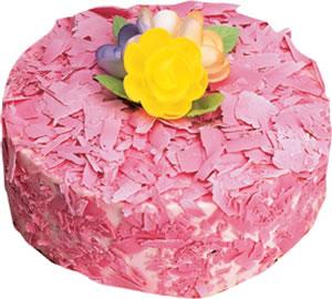 pasta siparisi 4 ile 6 kisilik framboazli yas pasta  Tekirdağ çiçekçi telefonları