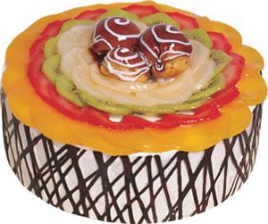 pasta siparisi 4 ile 6 kisilik meyvali yas pasta  Tekirdağ ucuz çiçek gönder