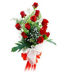 11 adet kirmizi güllerden görsel sölen buket  Tekirdağ cicek , cicekci