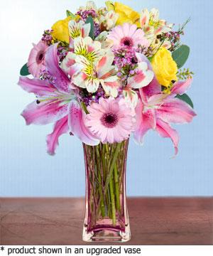 Anneme hediye karisik cam mevsim demeti  Tekirdağ online çiçek gönderme sipariş