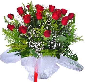 11 adet gösterisli kirmizi gül buketi  Tekirdağ internetten çiçek siparişi