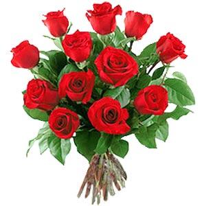 11 adet bakara kirmizi gül buketi  Tekirdağ online çiçekçi , çiçek siparişi