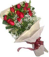 11 adet kirmizi güllerden özel buket  Tekirdağ online çiçek gönderme sipariş