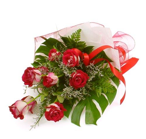 çiçek gönder 7 adet kirmizi gül buketi  Tekirdağ yurtiçi ve yurtdışı çiçek siparişi