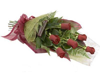 ucuz çiçek siparisi 6 adet kirmizi gül buket  Tekirdağ çiçekçiler