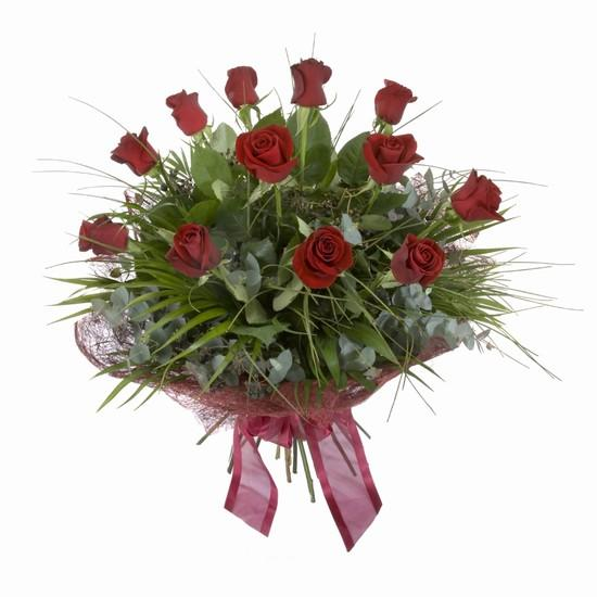 Etkileyici buket 11 adet kirmizi gül buketi  Tekirdağ internetten çiçek siparişi