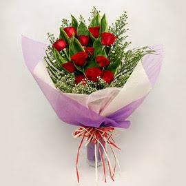 çiçekçi dükkanindan 11 adet gül buket  Tekirdağ internetten çiçek satışı