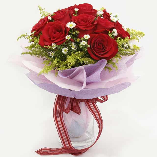 Çiçek gönderme estetikliginiz 11 gül buket  Tekirdağ internetten çiçek satışı