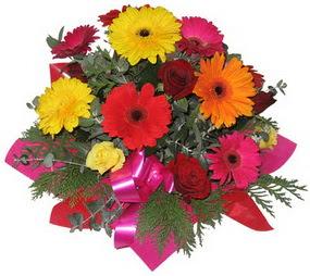 Karisik mevsim çiçeklerinden buket  Tekirdağ çiçek servisi , çiçekçi adresleri