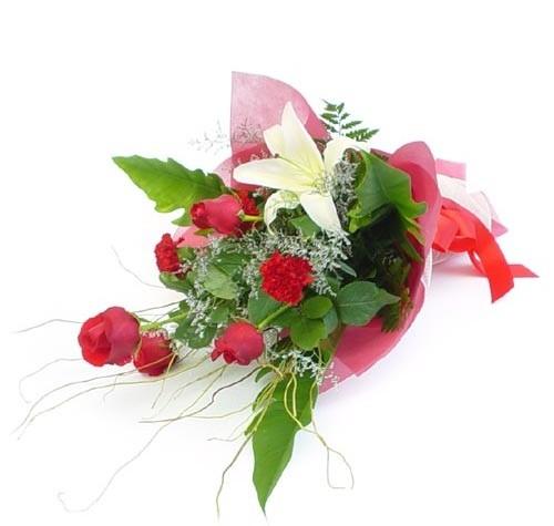 Mevsim çiçeklerinden karisik buket  Tekirdağ uluslararası çiçek gönderme