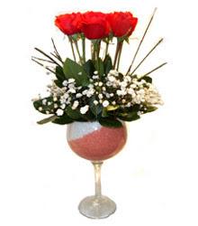 Tekirdağ çiçek siparişi vermek  cam kadeh içinde 7 adet kirmizi gül çiçek