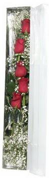 Tekirdağ çiçekçiler   5 adet gülden kutu güller