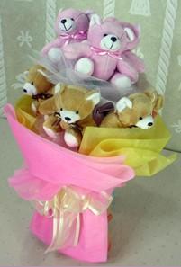 8 adet ayiciktan buket  Tekirdağ uluslararası çiçek gönderme