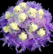 11 adet pelus ayicik buketi  Tekirdağ hediye çiçek yolla