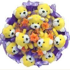 11 adet pelus ayicik buketi  Tekirdağ güvenli kaliteli hızlı çiçek
