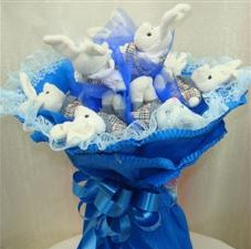 7 adet pelus ayicik buketi  Tekirdağ hediye çiçek yolla