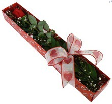 Tek kirmizi gül kutu içerisinde  Tekirdağ online çiçekçi , çiçek siparişi