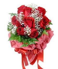 9 adet en kaliteli gülden kirmizi buket  Tekirdağ kaliteli taze ve ucuz çiçekler