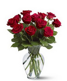 Tekirdağ çiçek gönderme  cam yada mika vazoda 10 kirmizi gül
